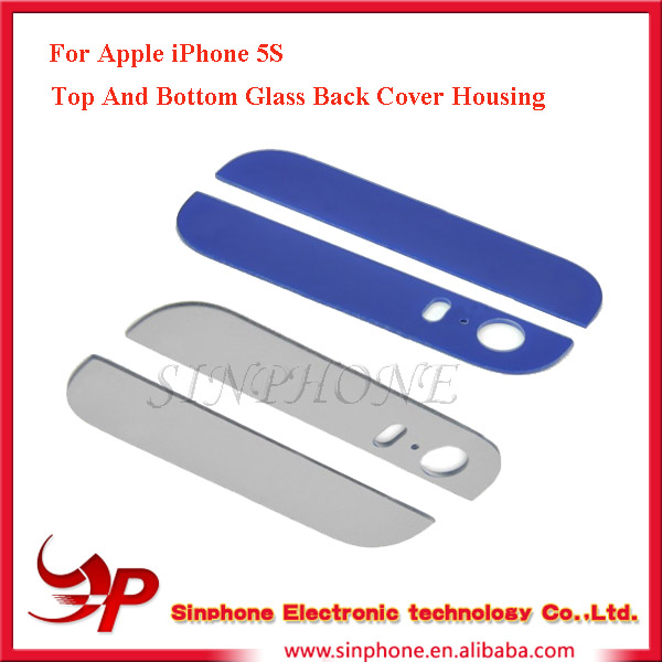 Original Mobile Phone Spare Part For Apple iPhone 5S Top and Bottom Glass Back Cover Housing Replacement