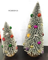 White fiber optic christmas trees with christmas mini ball holiday decoration
