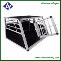 Sturdy Aluminum Dog Crate Safety Secure Transport Cage