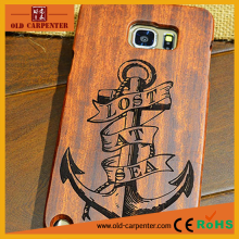 Engraving pattern rose wood/bamboo mobile phone protection shell for Samsung Nont33