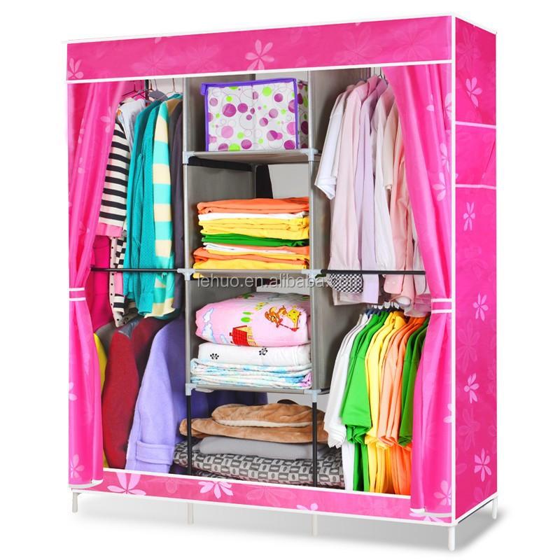 Product Portable Storage : Portable storage closet foldable cloth wardrobes wardrobe