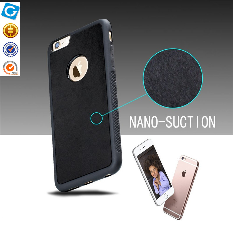 2017 new design Anti gravity Nano Suction selfie mobile phone case holder phone case for iphone 7 and Samsung S7