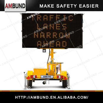 EU Series Portable Message Signs For Traffic Management, Outdoor Portable Mess Trailer For Traffic Signal Portable Message Signs
