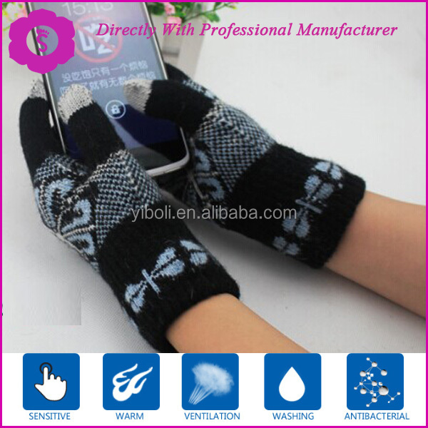 PAD conductive yarns touch screen glove ,smart glove,arylic silver conductive glvoes