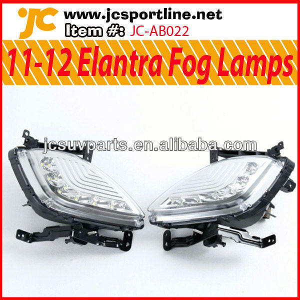 For Hyundai 11-12 Elantra Fog Lamps Elantra LED Lights Car Front Fog Lights