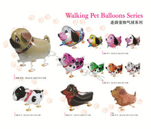 Wholesale Inflatable balloon animals air Walking Animal Helium Foil Balloon pet toy balloons