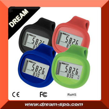Factory Wholesale Tri-Axis Pedometer Activity Tracker with 7 Day Memory Steps and Miles Pedometers