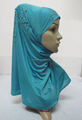 H312 latest instant hijab with beads and rhinestones,muslim scarf