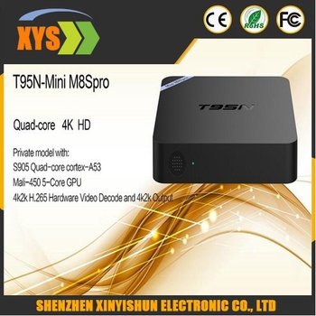 Original T95N Mini MX+ TV Box Amlogic S905 Quad Core Android 5.1 Set Top Box 2.4GHz WiFi 2.0 Smart TV Box USB TF Card Slot