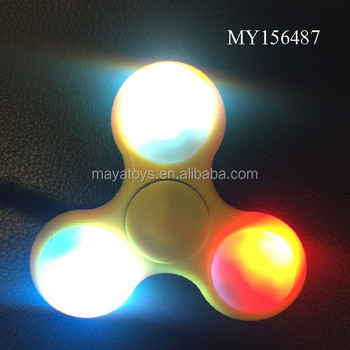 OEM finger spinning top toy ,LED Light Up Hand Spinners Fidget Spinner Top (7 colors mixed ) with switch