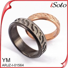 black jewelry gold plated long finger rings cheap beautiful rings