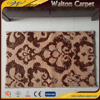 Lotus floral pattern chenille jacquard soft bathroom door mat