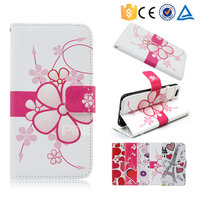 Colorful printing pu leather case flip cover for alcatel one touch pop star 4g for other mobile phone