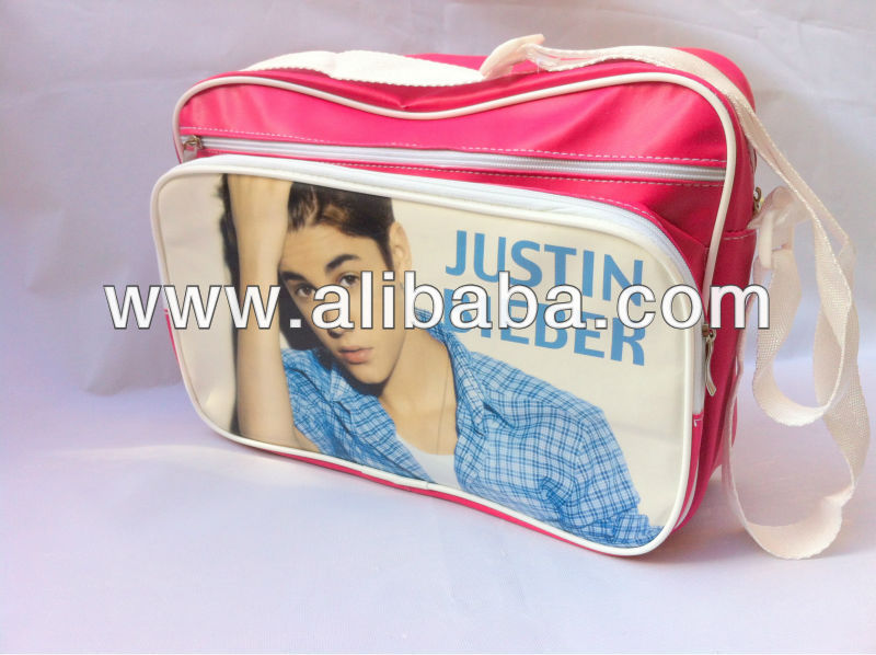 JUSTIN BIEBER Shoulder Messenger Gym Sport School College Bag a17