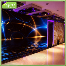 Custom murals KTV bar room aisle 3D wallpaper colorful lights background wallpaper