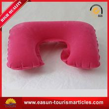 wholesale inflatable body pillow for travel u shape headrest pillow custom inflatable pillow