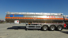 3 BPW axle 35000L Aluminum alloy fuel/Aviation kerosene/gasoline tanker semi trailer