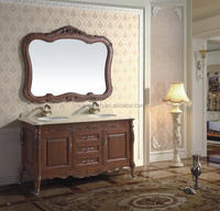 High quality latest wooden furniture designs/double sinks bathroom vanities