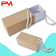 kraft paper box drawer packaging box with string