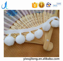 hot sale white cheap pompom lace big ball trim lace for garments/curtain accessories