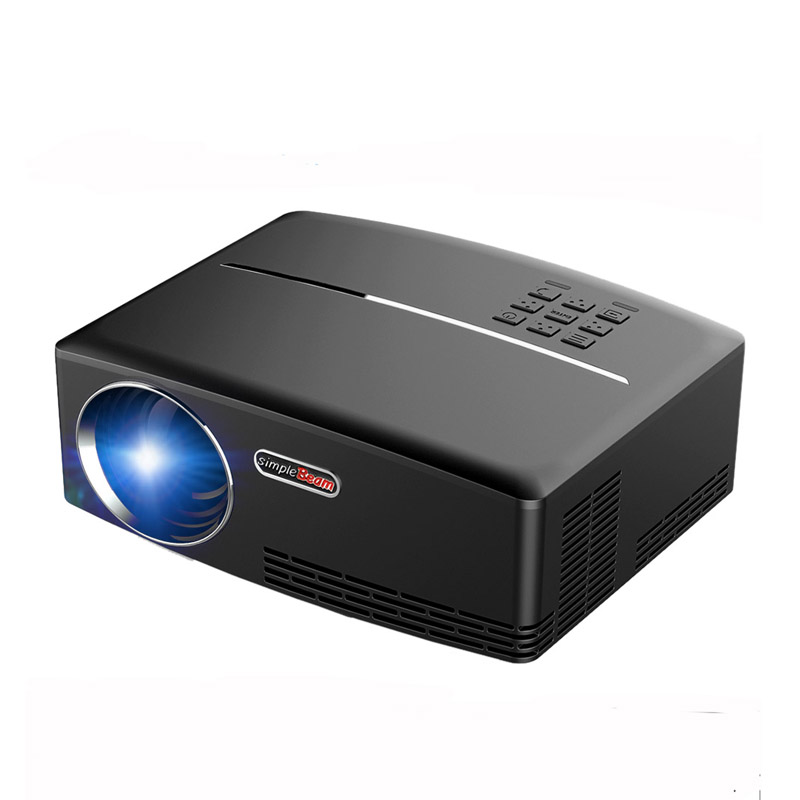 GP80 Projector 1080P Full Color LED Projector 1800 Lumens 800*480 Pixel 2200:1 Contrast Ratio with VGA AV USB Remote Controller