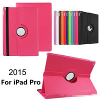 Utra Thin 360 Rotating Smart Folding Stand Pu Leather Lichee Protector Case Cover For iPad Pro 12.9""