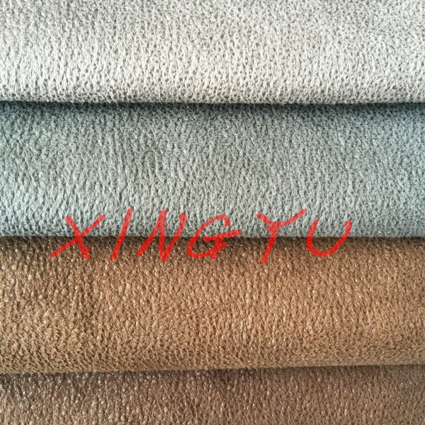 bronzed warp knitting suede fabric for sofa