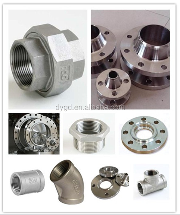 Carbon steel and stainless pipe fittings adapter