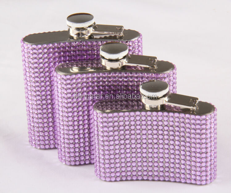 4oz/5oz/6oz bling bling rhinestone hip flasks