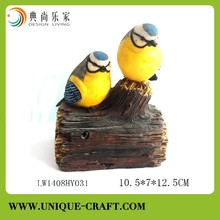 Unique design bird on tree sensor solar light polyresin crafts