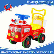 Free Wheel Red Fire Engine Baby Push Car With Light and Music