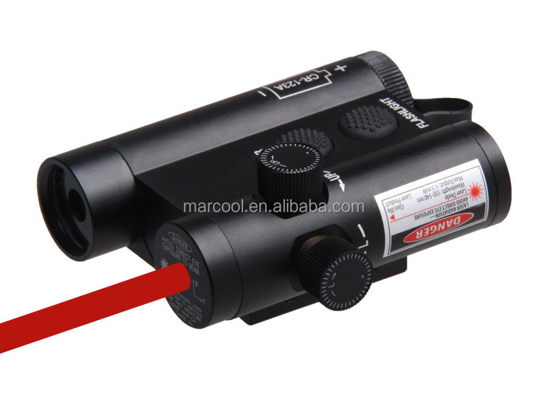LF-3R LED Weapon Metal Flashlight with Red Laser Sight & remote switch
