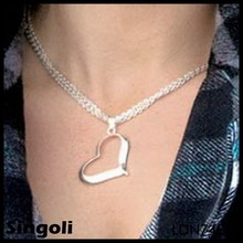 2014 China wholesale faith and ltrust,infinite love, silver heart pendant
