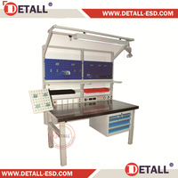 Industrial professional stainless steel table with drawer (Detall)