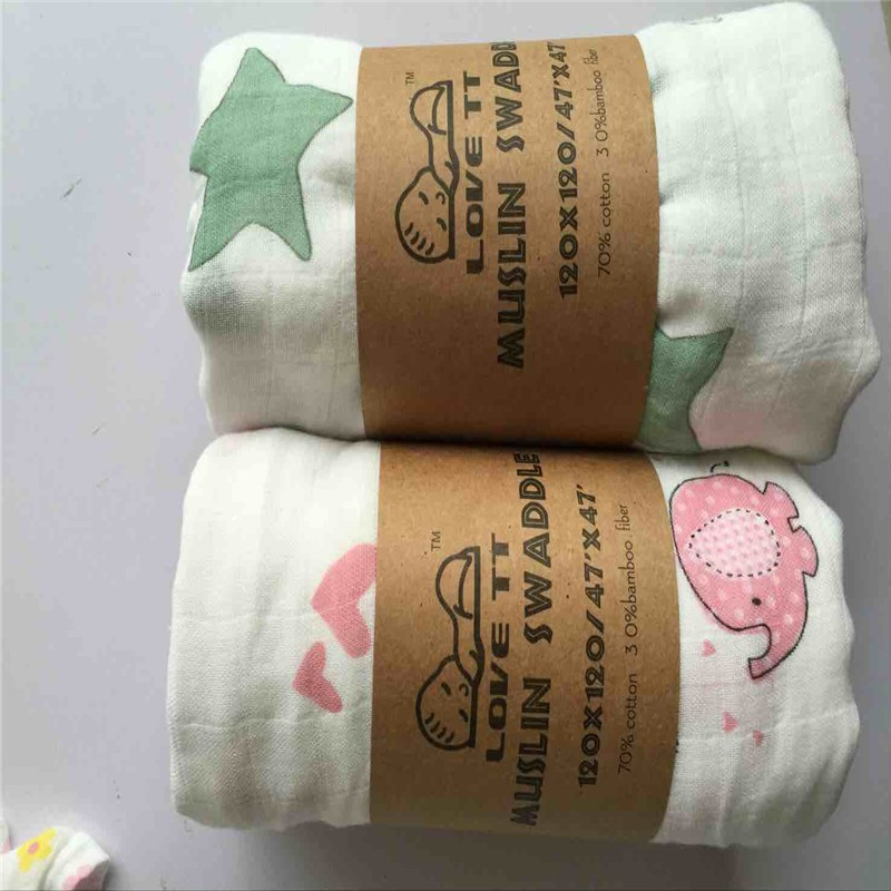 Wholesale bamboo muslin fabric printed baby swaddle for Wholesale baby fabric