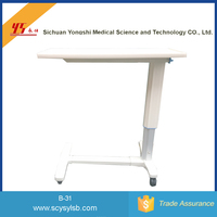 Hot Sale Hospital Patient Bedside Table with wheels