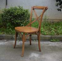 French Style Wooden Dining Cross Back Chair,Antique Classic X Cross Back Chair