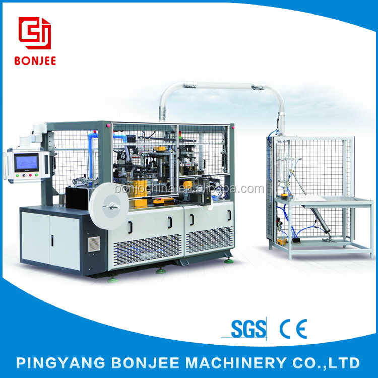 Bonjee Automatic Disposable Paper Tea Cup Making Machinery China Manufacturers