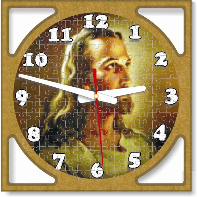 Christian Supawood Puzzle Face Quartz Wall Clock