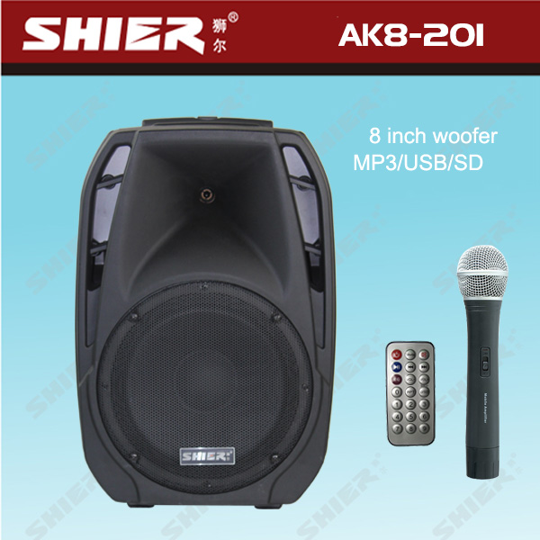 SHIER AK8-201 NEW 2014 pro 8inch woofer trolley stage music speaker system