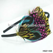 Bridal peacock feather headband 2011