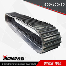 Construction Machinery Parts atv rubber track crawler (600*100*LINKS)