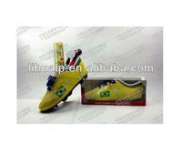 Hot selling! soccer shoe pencil holder world cup brazil 2014