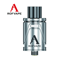2016 Rofvape Huge Vapor Dual-Airflow-Control Mini Velocity RDA/RTA/RBA Drip Tip Rebuildable Atomizer For rx200/rx200s Mod Box