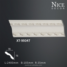 China ceiling decorative materials polyurethane foam pu cornice/ ceiling mouldings for interior decoration