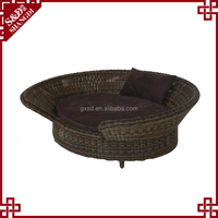 China new dog pet products wicker woven comfortable dog bed luxury