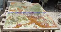 Multi Brown Onyx Table Tope, Onyx Dining Table Top