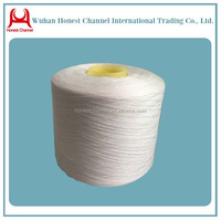 302 302 raw white paper cone bright semidull spun polyester yarn best seller top grade industry yarn