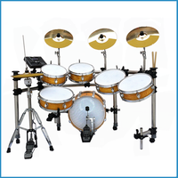 6-pcs golden/black electric drum set, electric drum kit, drums electronics