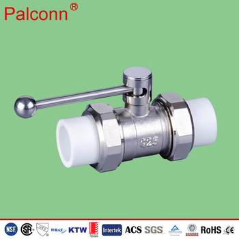 DIN 8077 quality assurance PPR manual ball valve Ppr Welded Plastic Pvc Full Bore Ball Valve